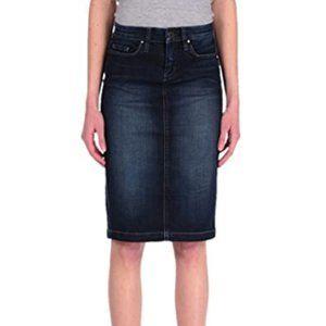 Women's denim skirt mid-length